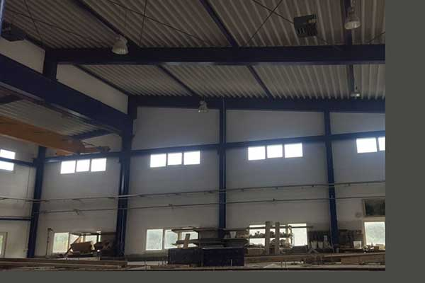 Lagerhalle mit Beschichtung