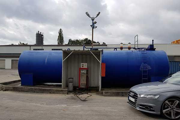 tankanlage farbabplatzungen und korrosion
