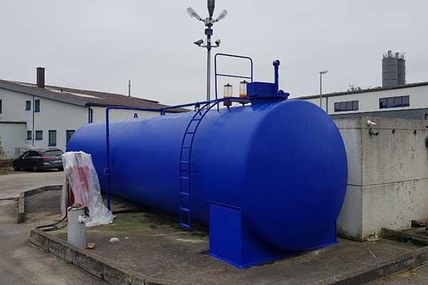 Tankanlage mit Rostschutz